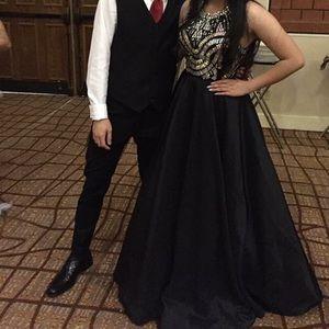 2 piece Bebe prom dress